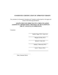 chikungunya virus dissertation